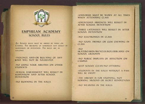 Empyrean Academy - Campus Rules by Squall-Kaihane