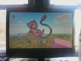 Mew in MINECRAFT by HarmoniaMurasaki