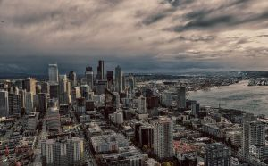 Seattle Cityscape from Space Needle by ShannonCPhotography