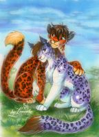 Leopards by Imanika
