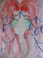 watercolors-voilet on red by KENZICHII