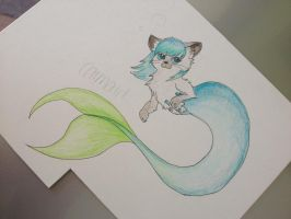 cat mermaid by tSTARylor