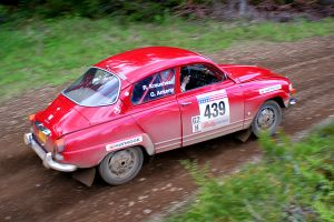 Garth's Saab at Olympus Rally by qmorley
