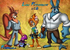 Lou Firemouse and CO by lu-raziel