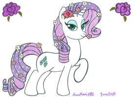 Rarity's Flowers by AnneMarie1986