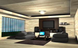 Living room by Obstination