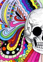 Rainbow skull by kameelperd