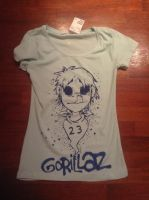 Gorillaz Hand painted shirt by Psychoon