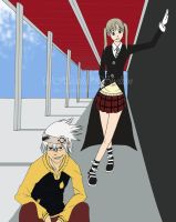 SOUL EATER: Maka and Soul WIP by HEATHSHHH