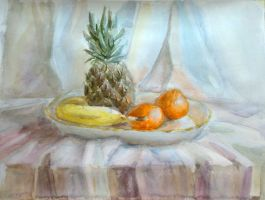 Still life with pineapple by al-archery