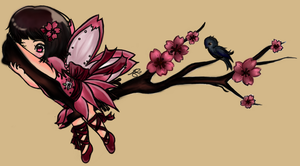 Cherry Blossom Fairy by iCanadianBacon