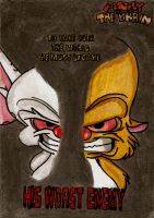 Pinky and the Brain Comic Cover by MiniAliceSuperstar