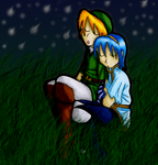 SSB - Link and Marth sleeping by Rosey-Raven