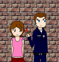 T-1000 giving me a flower by LUVKitty13