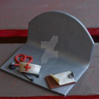 Nurse Theme'd Business Card Holder by vsweettartv