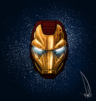 Unfinished Ironman Helmet Design Doodle by kaniphish