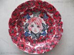 Drawing on a plate by EVA-777