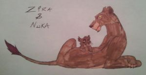 Zira And Nuka by Child-Of-Hades