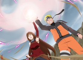 Commission - Aki and Naruto Combo Jutsu by dannex009