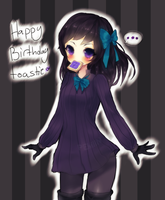 HAPPY BIRTHDAY SKETCH FOR TOASTIE by Pemiin