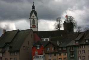 bad weather in Laufenburg by ingeline-art