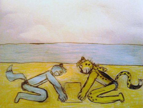 Terry and Lukas at a Beach by DPCBlueFox1991