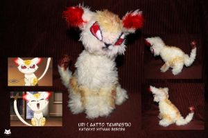 Plushie: Gatto Tempesta Storm Cat by marikit