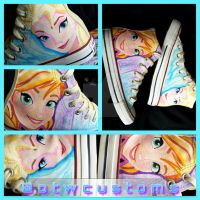 Disney Frozen Custom Converse by VeryBadThing