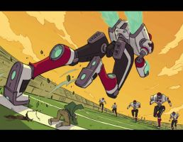ALCATRAZ HIGH : Football Mechs by BobbyRubio