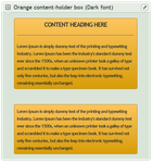 Orange content-holder box (Dark font) by CypherVisor