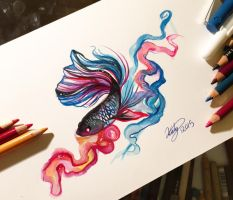 158- Betta Fish by Lucky978