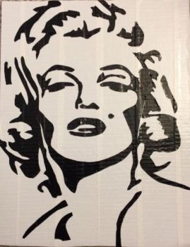 Marilyn Monroe (two color duct tape) by YesterdazeGone