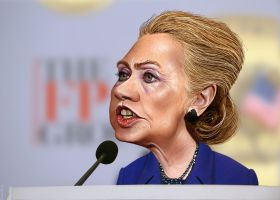 Hillary Clinton Caricature by DonkeyHotey