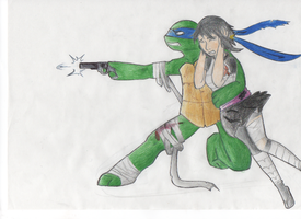 TMNT Leorai - I will protect you by WhiteOutMind