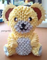3D Origami Teddy Bear by jadetiger168