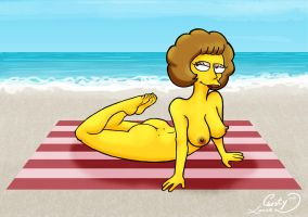 Nude Beach 2014: Maude Flanders by Chesty-Larue