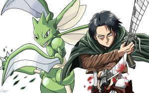 Levi and Scyther by ECrystalica