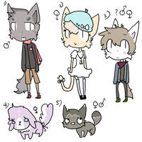 Anthro Kitty Adopts and bonus free adopts! closed by deewoo
