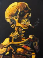Saturated Skull with Cigarette by MiSsUseD66
