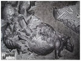 albrecht durer rhinoceros recreated by DrewGrinstead