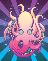 Psychedelic Octopus by blk-kitti