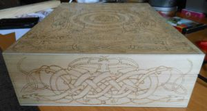Celtic dragons chest - left side by Woltus