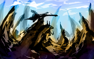 Sketch - Harsh Terrain by Stalcry