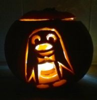 Mr. Flibble Pumpkin by mikedaws
