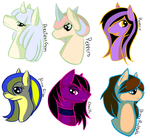 Random: Pony Head Shots by Anidra