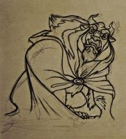 'The Beast' Drawing + Video (Cartoon Project) by nataliebeth