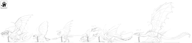 HTTYD sketch lineup by DemonML