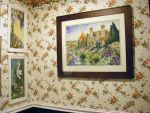 Castle and Swans Watercolor newly hung by HouseofChabrier