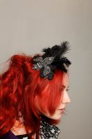 Black Lilly Hairbarrette by MADmoiselleMeli