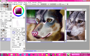 Wolf WIP by FireLioness